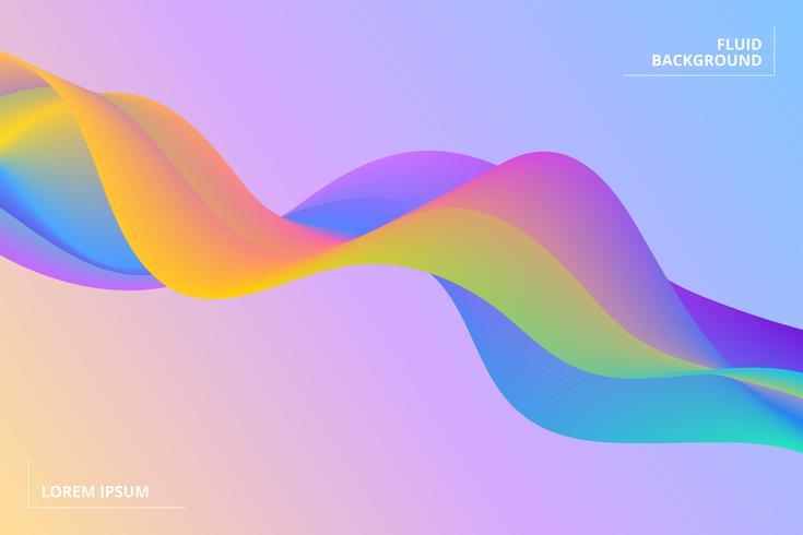 Bunter geometrischer Hintergrund. Flüssigkeit formt Zusammensetzung vektor