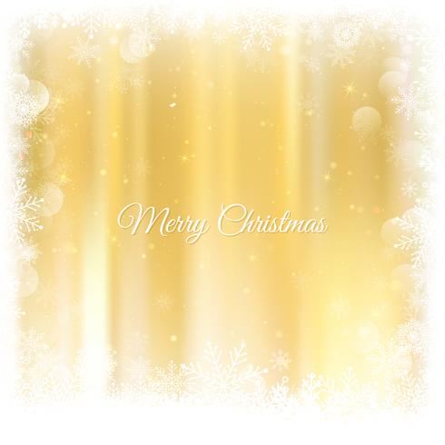 Gold Weihnachten Hintergrund. Weihnachtsglühender goldener Hintergrund und Lichter. Defocused Hintergrund des Goldfeiertags-neuen Jahres Zusammenfassungs-Funkelns mit blinkenden Sternen und Funken. Verschwommenes Bokeh. vektor