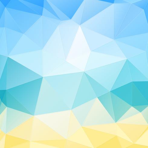 Blå och gul geometrisk bakgrund vektor
