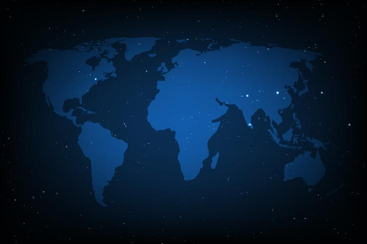 Blå världskarta vektor