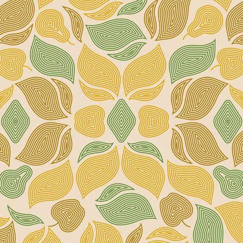 Abstrakt höstlöv mönster illustration vektor