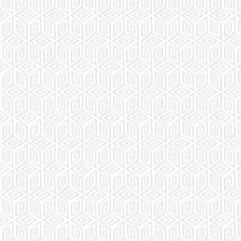 Vit kub geometriska bakgrund, papper konst mönster vektor