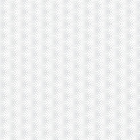 Weißer Bienenwabenhintergrund. Papierkunstmuster vektor