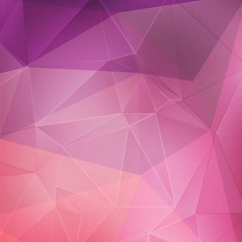 Rosa geometrischer Kristallhintergrund vektor