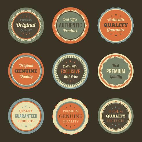 Retro Vintage Abzeichen festgelegt vektor