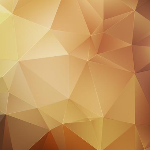 Goldabstrakter polygonaler Hintergrund vektor