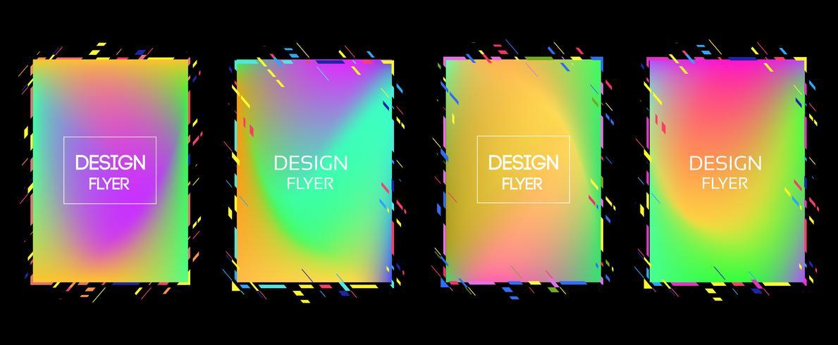 Vektorram för text Modern konstgrafik för hipsters. dynamisk ram stilig geometrisk svart bakgrund med guld. element för design visitkort, inbjudningar, presentkort, flygblad och broschyrer vektor
