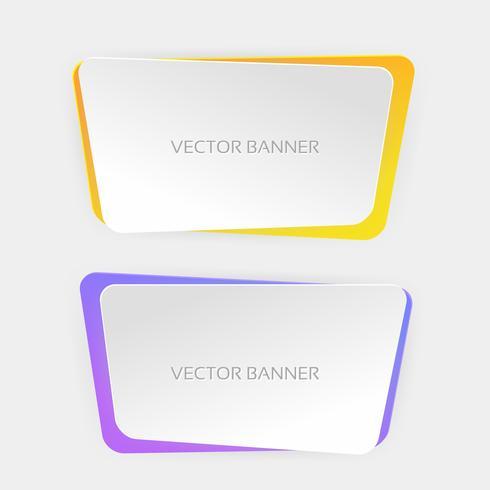 Moderna webb banners vektor