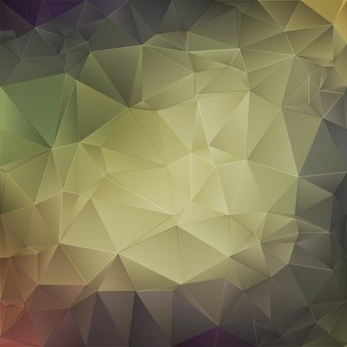 Grüner abstrakter Kristallhintergrund vektor