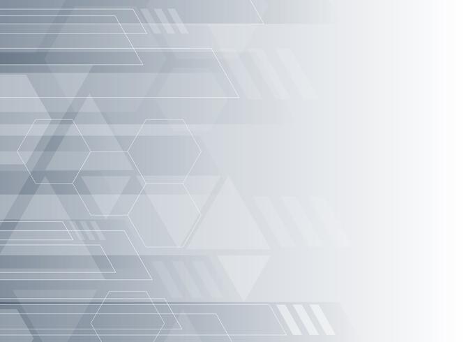 Grauer und weißer geometrischer Unternehmenssymbolhintergrund der abstrakten Technologie. vektor