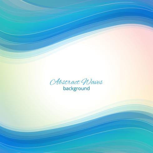 Blå vågor bakgrund. Abstrakt blå våg bakgrund Blå våg affärsmall vektor