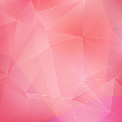 Rosa kristall geometrisk bakgrund vektor