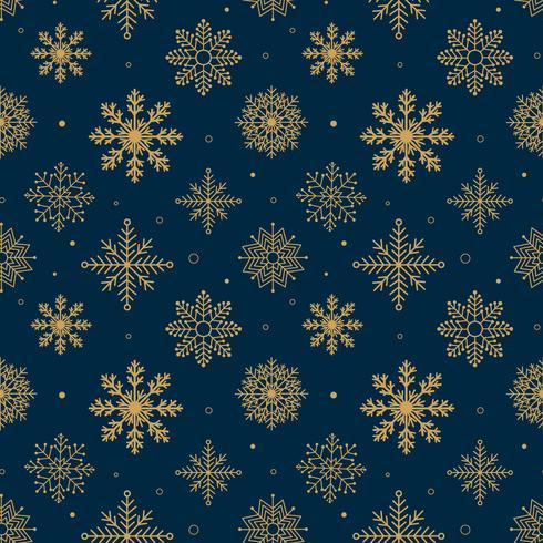Vintage Schneeflocken Muster vektor