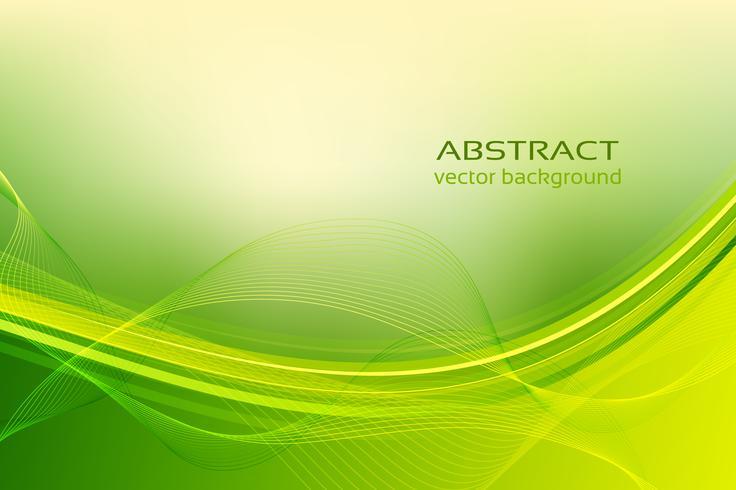 Abstrakt grön vågor bakgrund. vektor