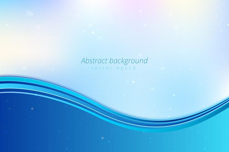 Blå abstrakt vågor bakgrund vektor