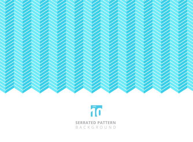 Abstrakte weiße Farbe gezackte Linien Muster auf blauem Hintergrund mit Kopienraum. vektor