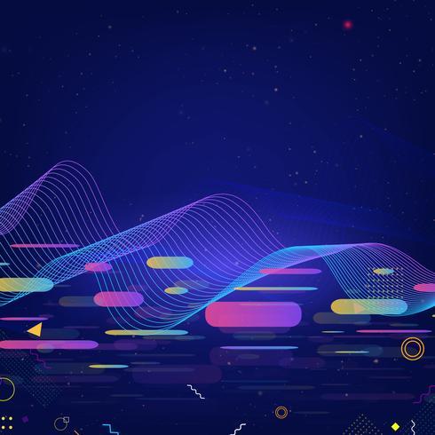 Färgglad teknik bakgrund vektor