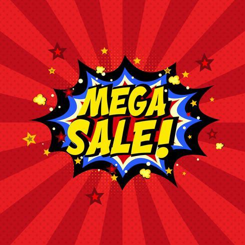Comic book mega försäljning bakgrund vektor