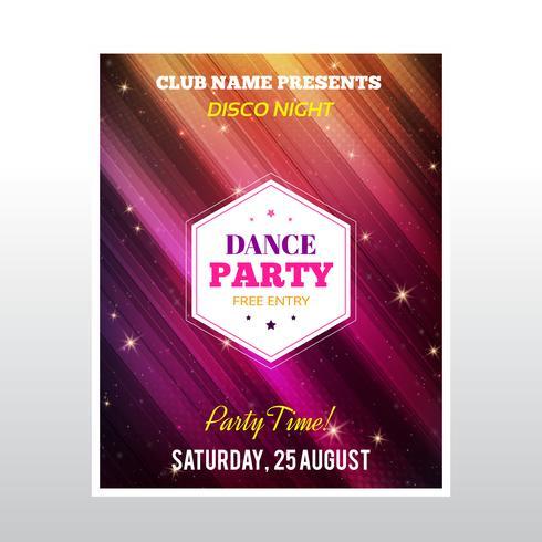 Disco party affisch vektor