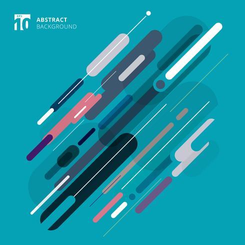 Abstrakt avrundad geometrisk form blå färgton bakgrund. vektor