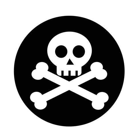 Schädelknochen-Symbol vektor