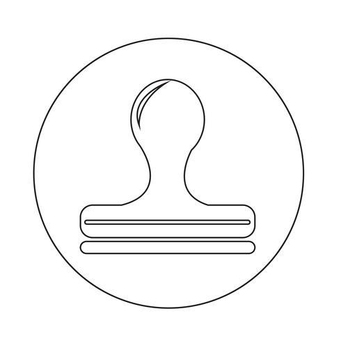 Stempelsymbol vektor
