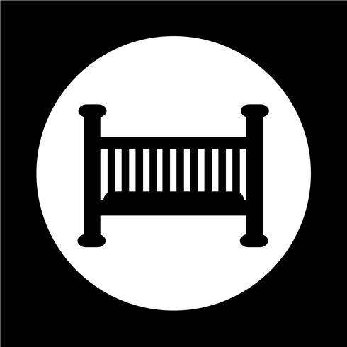 Babybett-Symbol vektor