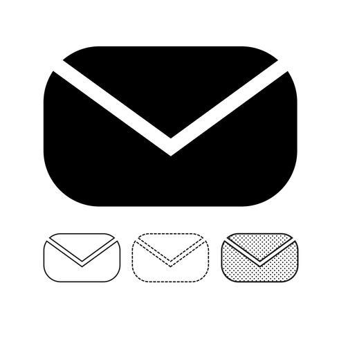 e-post ikon vektor