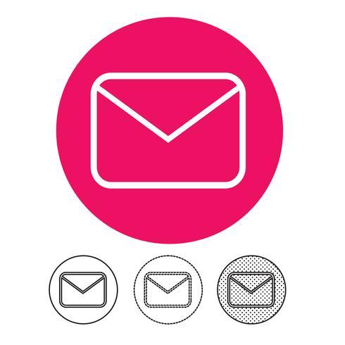 E-Mail und Mail-Symbol Vektor