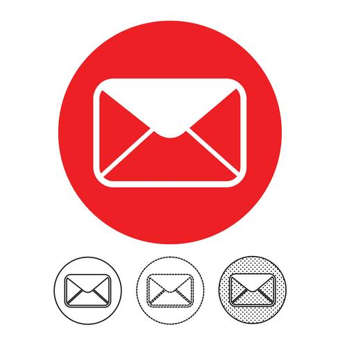 email och mail icon vector