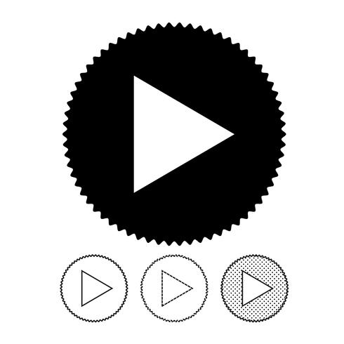 Video-Player-Schaltflächensymbol vektor