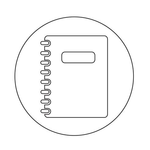 Notizbuch-Symbol vektor