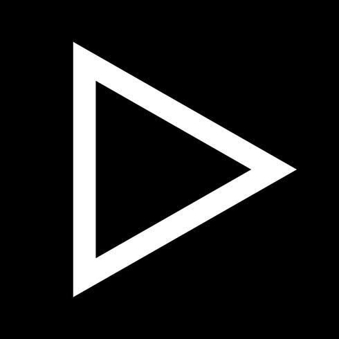 knappens videospelareikonen vektor
