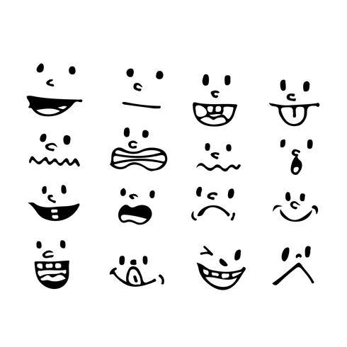 Cartoon-Mund-Symbol vektor