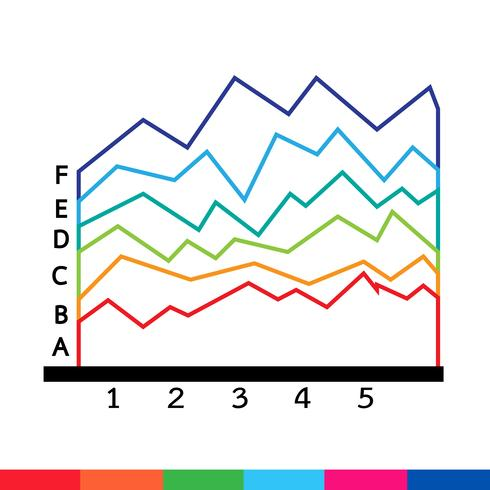 Geschäftsdaten-Diagramm-Symbol vektor