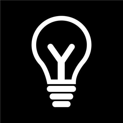tecken på lampa ikonen vektor