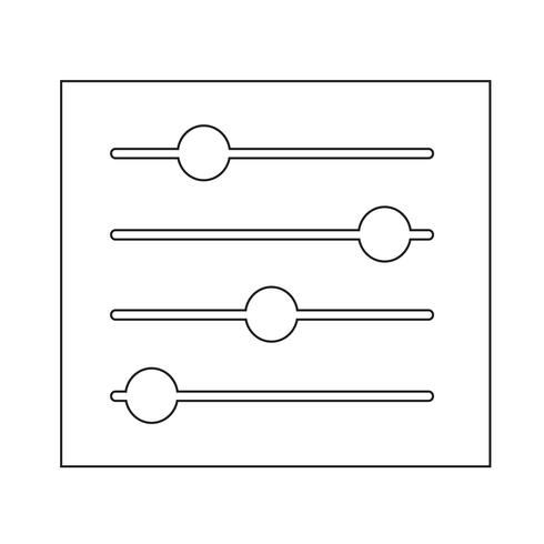 Zeichen der Kontrollsymbol vektor