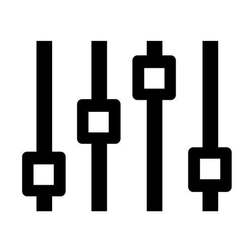 Tecken på kontrollikonen vektor