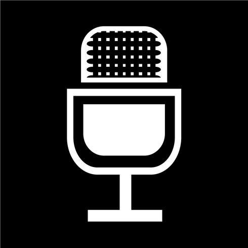 Zeichen der Mikrofon-Symbol vektor