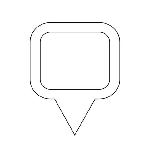 Kartpekare GPS-ikon vektor