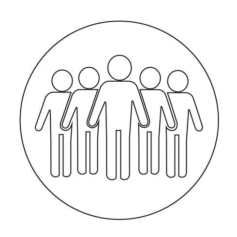 Ikon för tecken på personer vektor