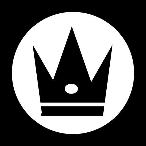 Zeichen der Krone-Symbol vektor