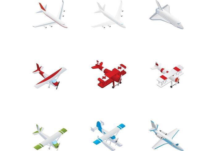 Flugzeug-Vektor-Pack vektor