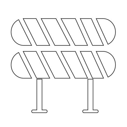 vägbarriärikonen vektor