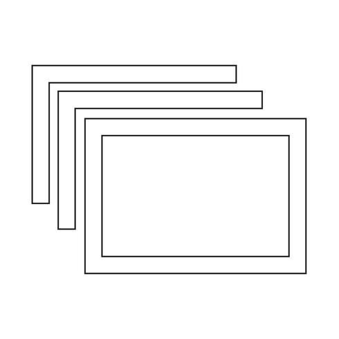 Windows-Tab-Symbol vektor