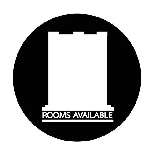 """Symbol """"Zimmer verfügbar"""" vektor"""