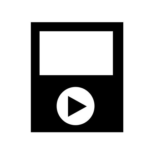 media play icon vektor