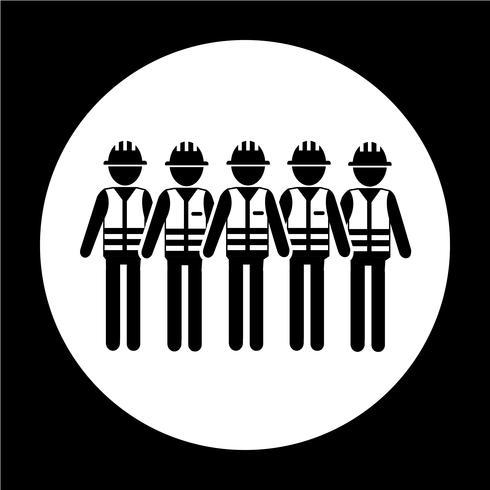 Ikon för arbetstagare vektor