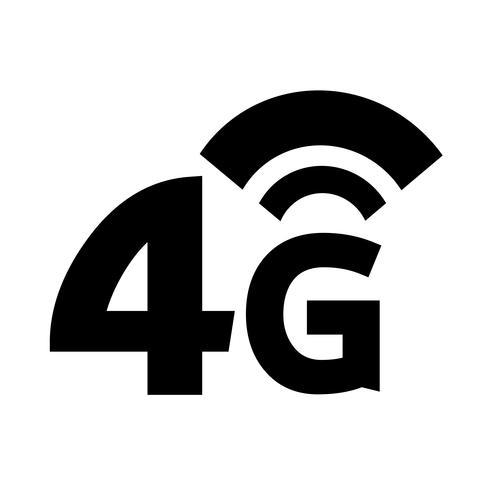 4G Wireless Wifi-ikon vektor