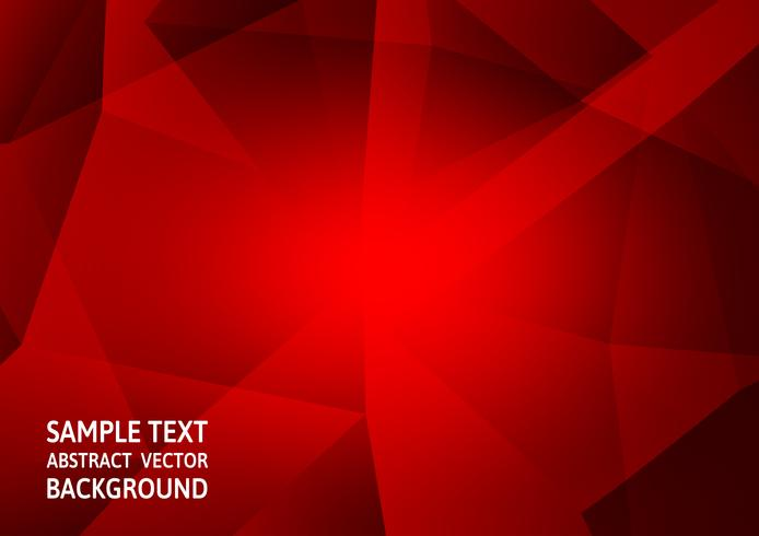 Modernes Design der rote Farbpolygonzusammenfassungshintergrund-Technologie mit Kopienraum, Vektor-Illustration vektor